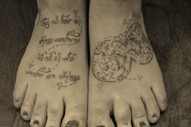 tatuagem delicada viagem