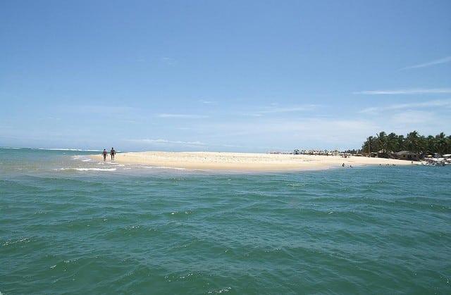 A Praia do Gunga, em Alagoas