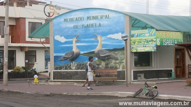 Mercado Municipal de Isabela em Galápagos