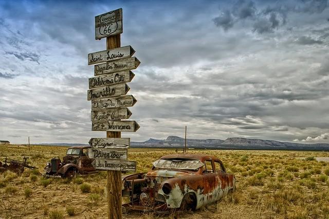A Route 66, que cruza os EUA, é lendária entre quem ama viajar de carro