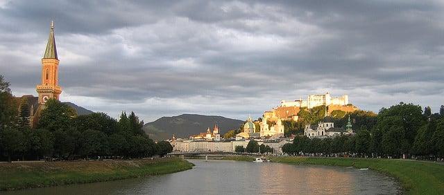 Fim de tarde em Salzburg. | Foto: Glawster