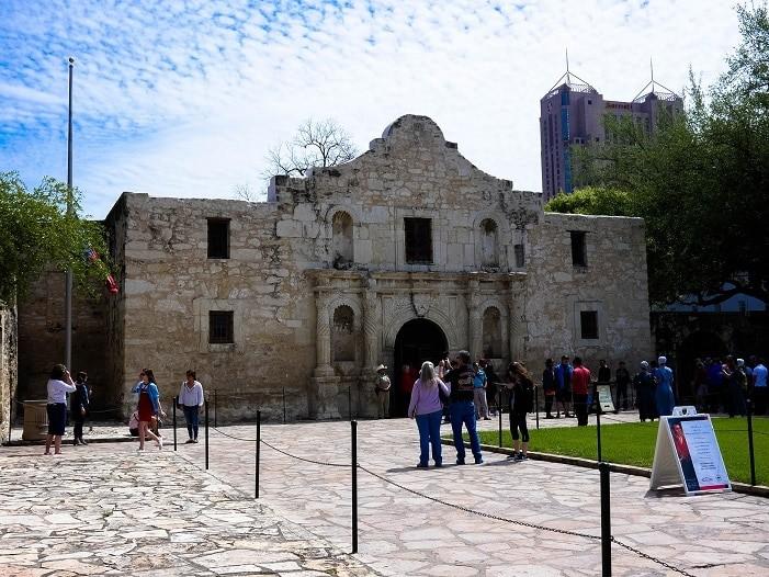 O Alamo, em San Antonio - Texas.