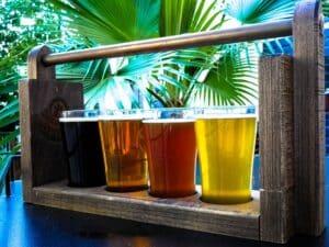Degustação de cervejas em Pearl Brewery, no Texas.