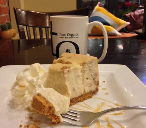 Prove um cheesecake na cafeteria Tree Organics
