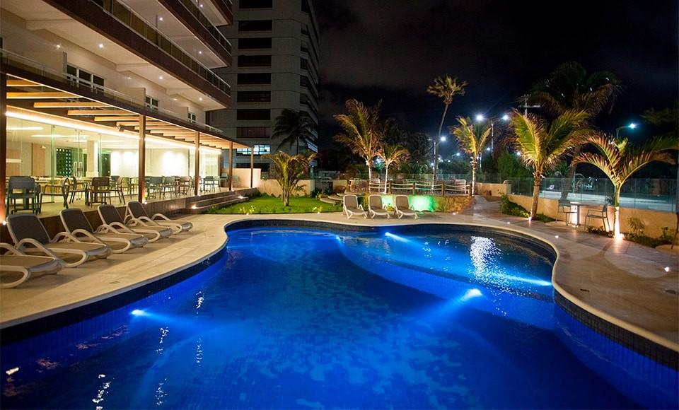 O hotel é um dos melhores hotéis para ficar na capital do Ceará e fica próximo ao aeroporto e no caminho para o Beach Park